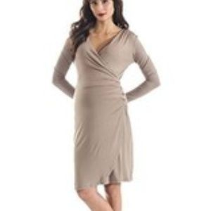 Maternity Lilac Clothing Taupe Brynley Dress